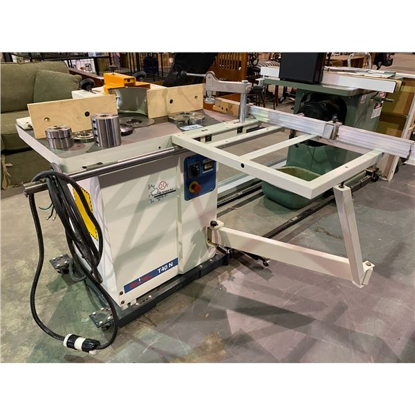 """SCM CRP MINI MAX T40 1-1/4"""" SPINDLE SHAPER 4.8HP/SINGGLE PHASE MACHINE WITH SLIDING TABLE, COMPLETE"""