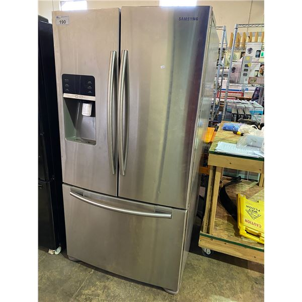 SAMSUNG STAINLESS STEEL D/D FRIDGE /W ROLL OUT FREEZER MODEL RFG297HDRS