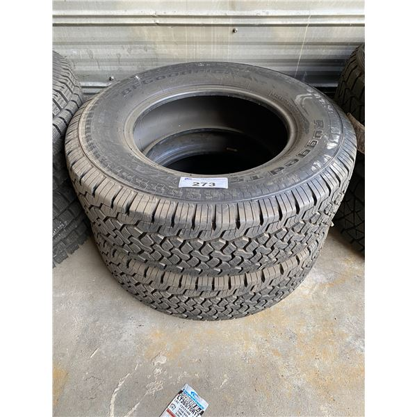 2 GOODRICH LT245/75R17 TIRES *$5 PER TIRE ECO-LEVY WILL BE CHARGED*