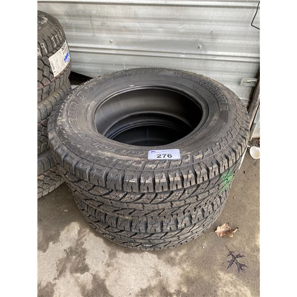 2 YOKOHAMA LT275/70R18 TIRES *$5 PER TIRE ECO-LEVY WILL BE CHARGED*