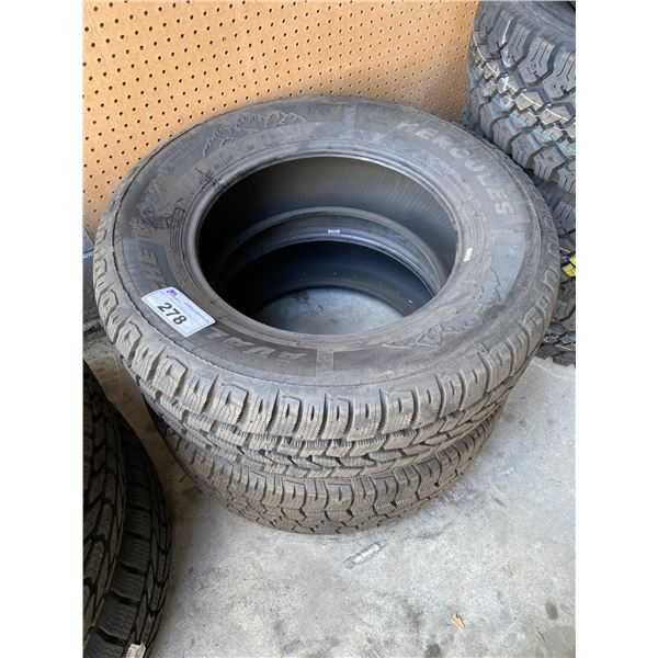 2 HERCULES 265/65R18 M+S TIRES *$5 PER TIRE ECO-LEVY WILL BE CHARGED*