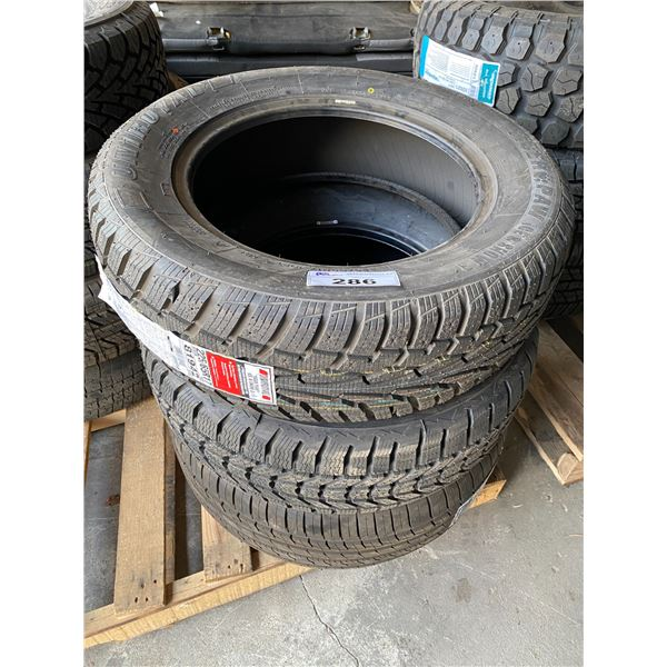3 ASSORTED SIZE TIRES *$5 PER TIRE ECO-LEVY WILL BE CHARGED*