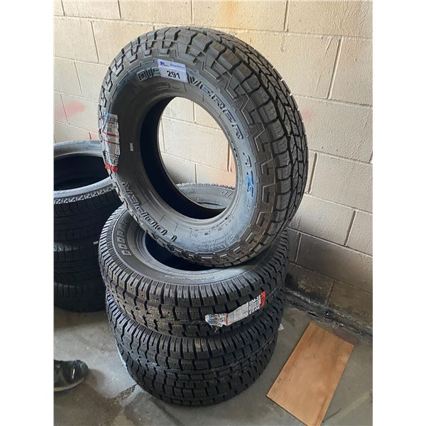4 ASSORTED SIZE TIRES *$5 PER TIRE ECO-LEVY WILL BE CHARGED*