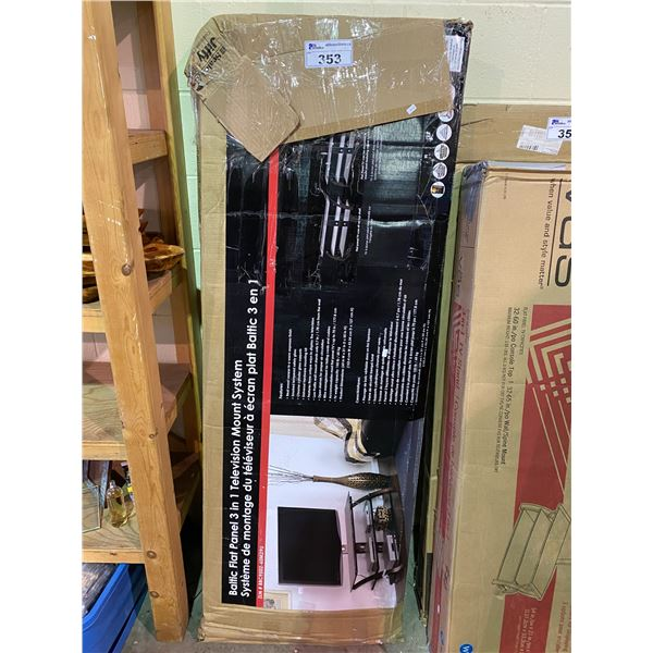 BALTIC FLAT PANEL 3-IN-1 TELEVISION MOUNT SYSTEM