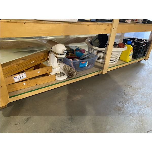 KITCHENAID MIXER, CLEANING PRODUCTS, LAUNDRY BASKET, KITCHEN UTENSILS, ETC