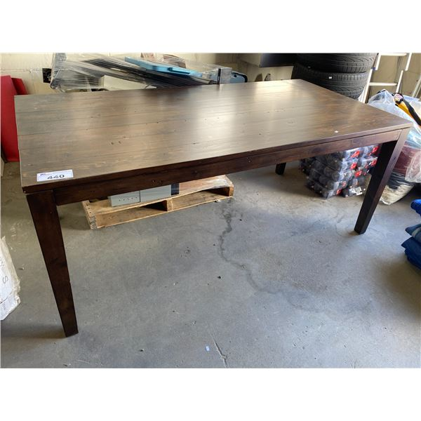 WOOD DINING TABLE (NO CHAIRS)