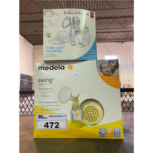 MEDELA SWING BREASTPUMP & PRESIDENTS CHOICE MANUAL BREAST PUMP