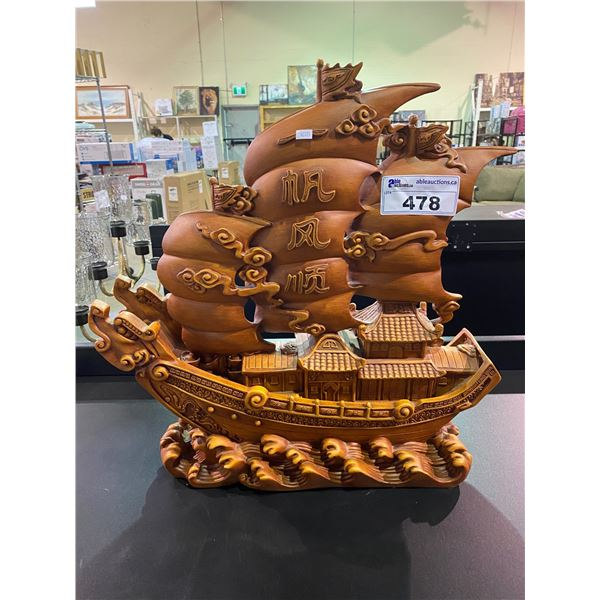 CERAMIC CHINESE JUNK SHIP