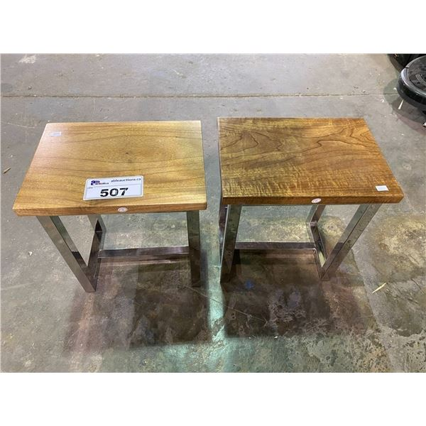2 SMALL SIDE TABLES