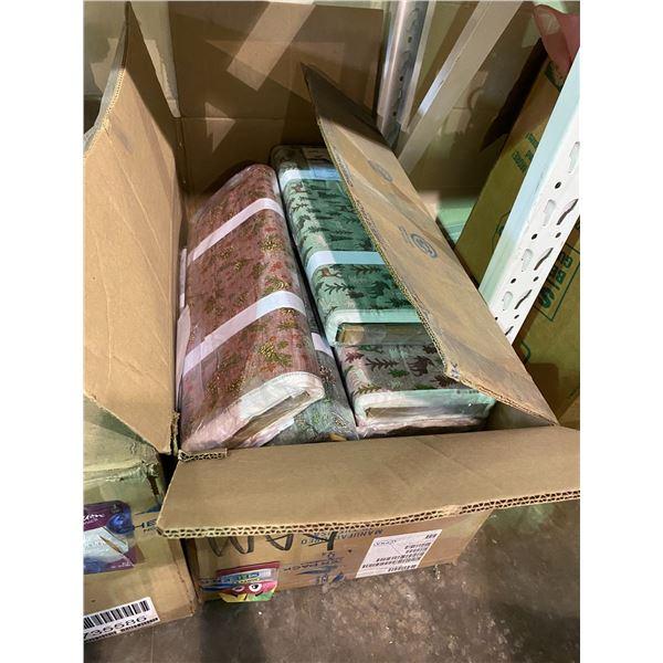 BOX OF ASSORTED TEXTILES/FABRICS