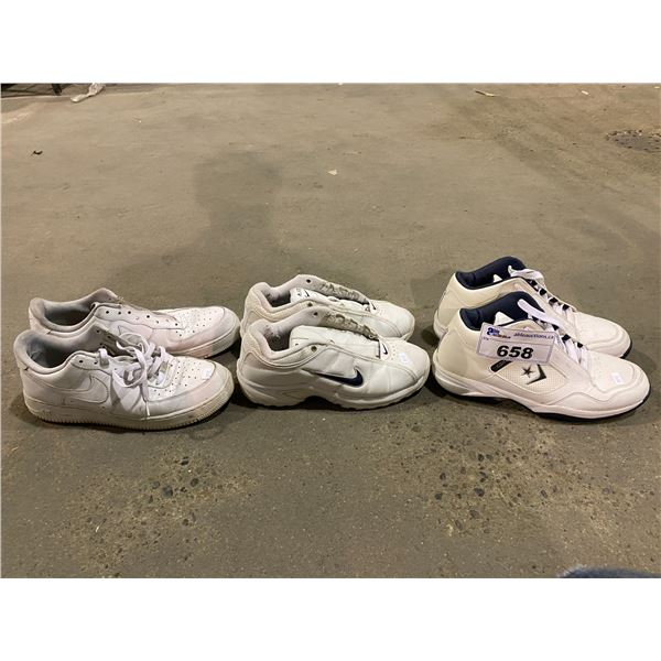3 PAIRS OF SHOES (CONVERSE & NIKE)