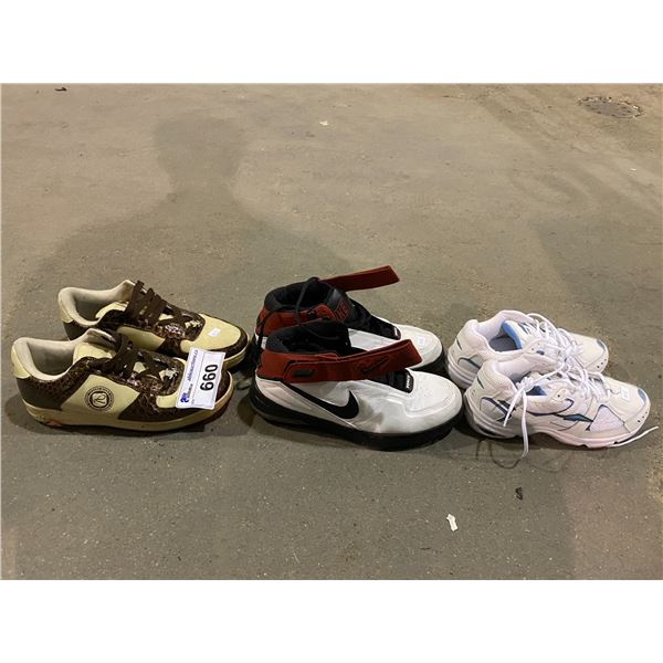 3 PAIRS OF SHOES (NIKE, VLADD FOOTWARE & AVIA)
