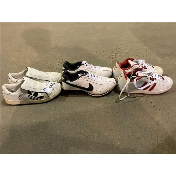 3 PAIRS OF SHOES (ADIDAS & NIKE)