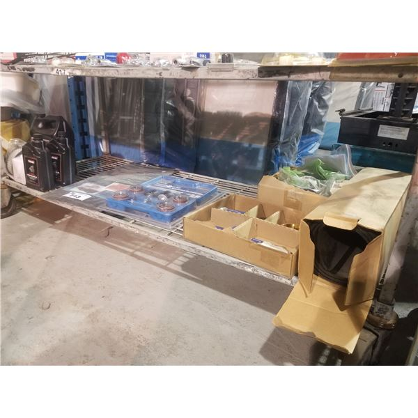 ROK 25-PC SANDING DRUM SET, SAND PAPER, VMAC COMPRESSOR OIL, FILTER, ETC