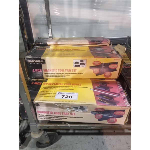 5 BOXES SHOPRO MAGNETIC TRAYS