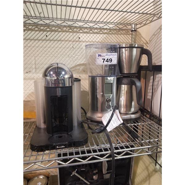 BREVILLE COFFEE MAKER & NESPRESSO COFFEE MAKER