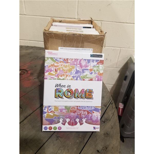 """BOX OF 5 NEW VOICE ORIGINALS """"WHEN IN ROME"""" AMAZON ALEXA TRIVIA GAMES"""