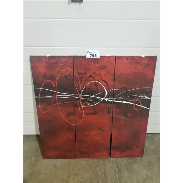 """3-PC PICTURE APPROX 37 X 36.5"""""""