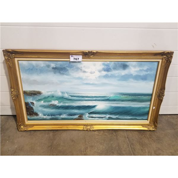 """FRAMED PAINTED CANVAS 54.75 X 31"""""""