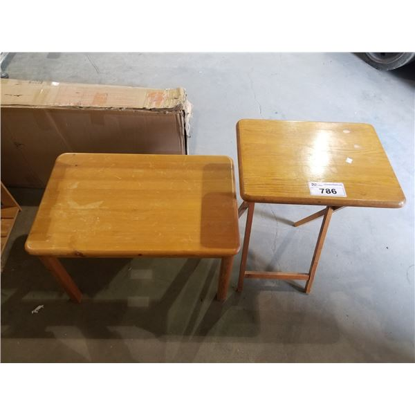 FOLDING DINNER TRAY & SMALL SIDE TABLE