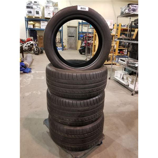 SET OF 4 DUNLOP TIRES, 275/40R20, 106W EXTRA LOAD