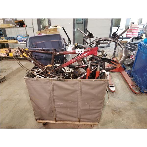 BICYCLE FRAMES & PARTS (BIN NOT INCLUDED)