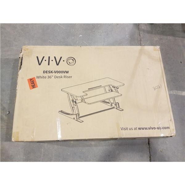 """V.I.V. DESK-V000VW, WHITE 36"""" DESK RISER"""