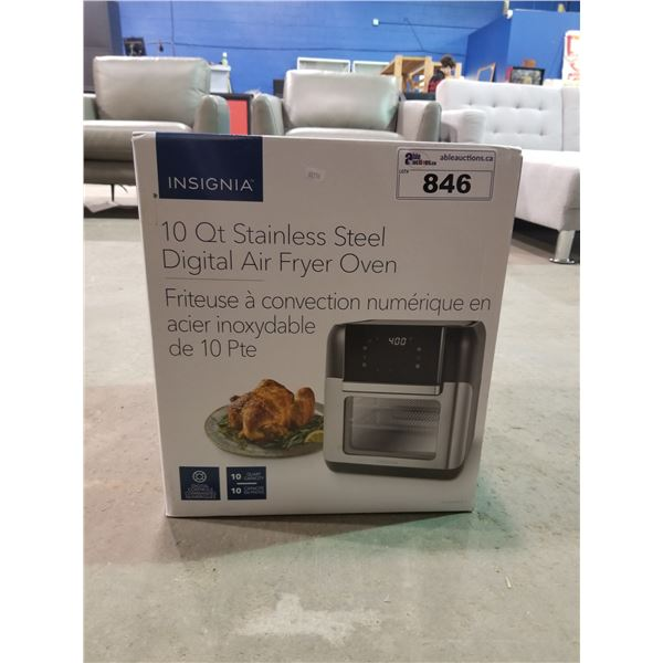 INSIGNIA 10QT STAINLESS STEEL DIGITAL AIR FRYER OVEN