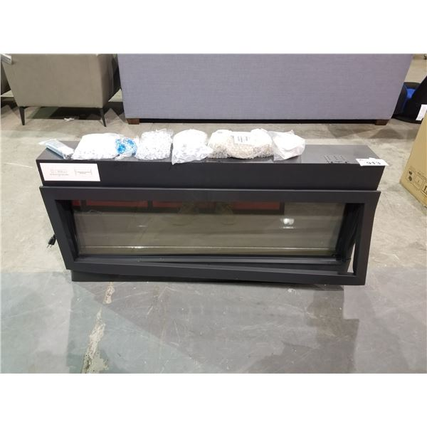 AMANTII ELECTRIC FIREPLACE  WITH ACCESSORIES & REMOTE (DENTED CORNER)