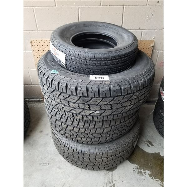 4 ASSORTED TIRES