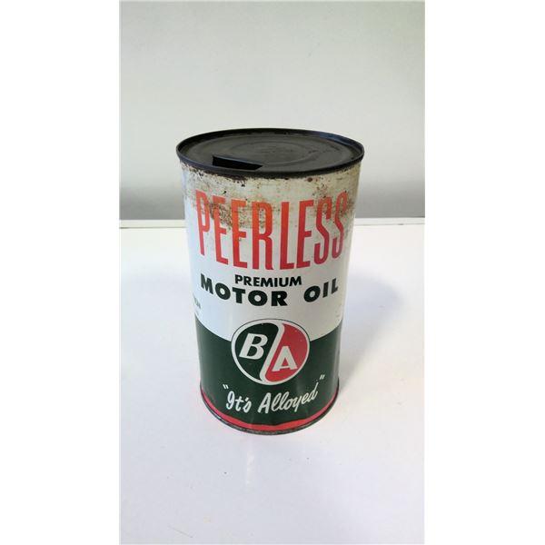 British American Oil Co Peerless Motor Oil Tin