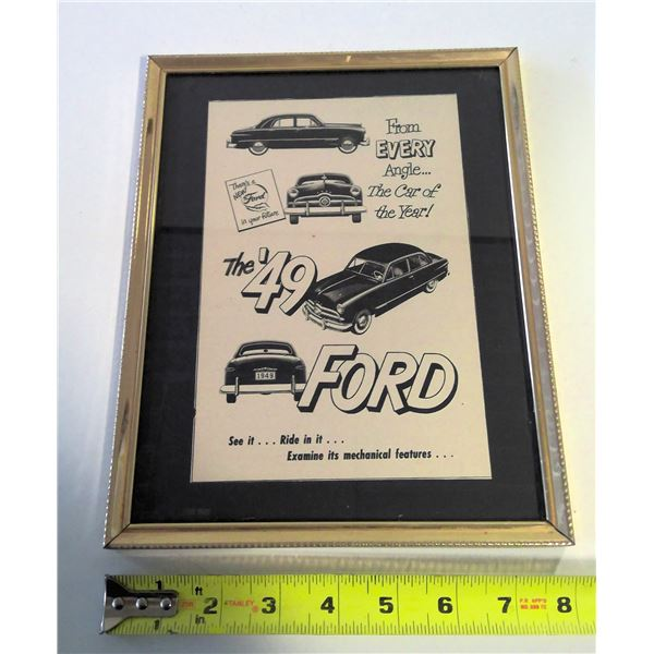 1949 Ford Coupe Framed Advertisement