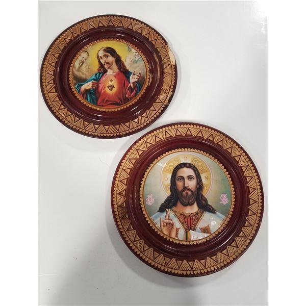 Wood Religious Wall Decor Plates