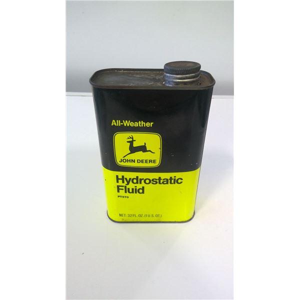 Vintage John Deere Hydrostatic Fluid tin