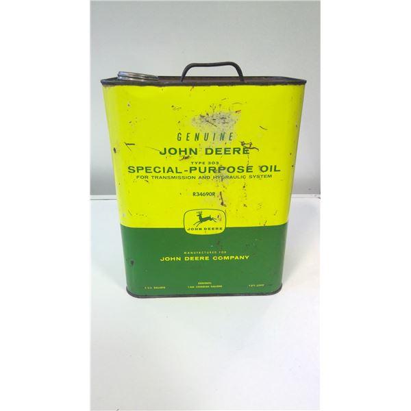 Vintage John Deere Special Purpose 303 Oil tin