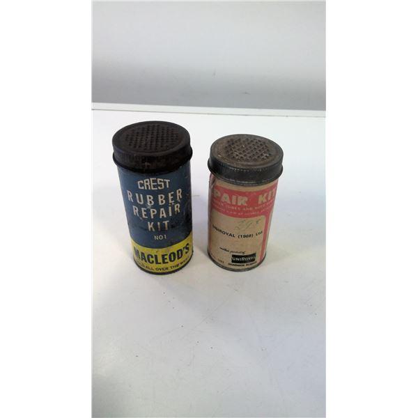 Lot of 2 vintgae Rubber Repair Kits