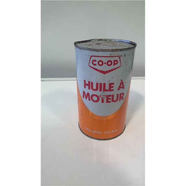 Co-op Motor Oil Quart Tin