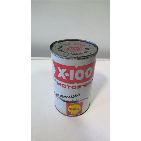 Shell Oil Quart Tin X-100 10W30