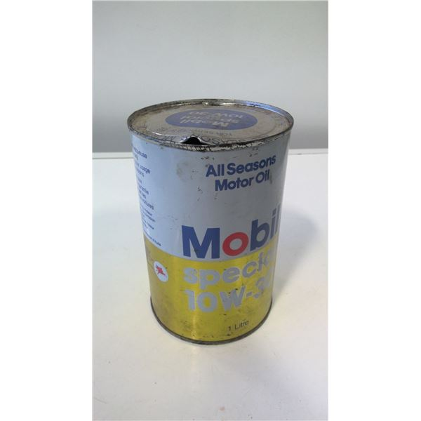 Mobil Special 1L Canadian Oil Tin