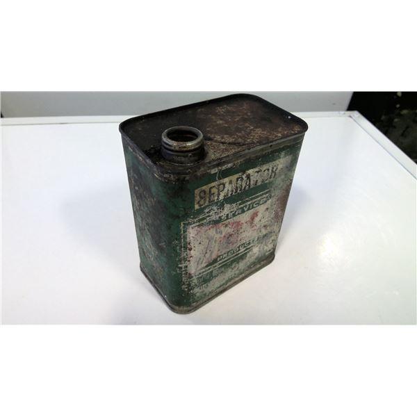 British American Oil Co. Seperator Oil Tin