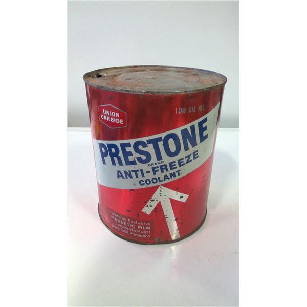 Union Carbide Prestone Anti-Freeze tin