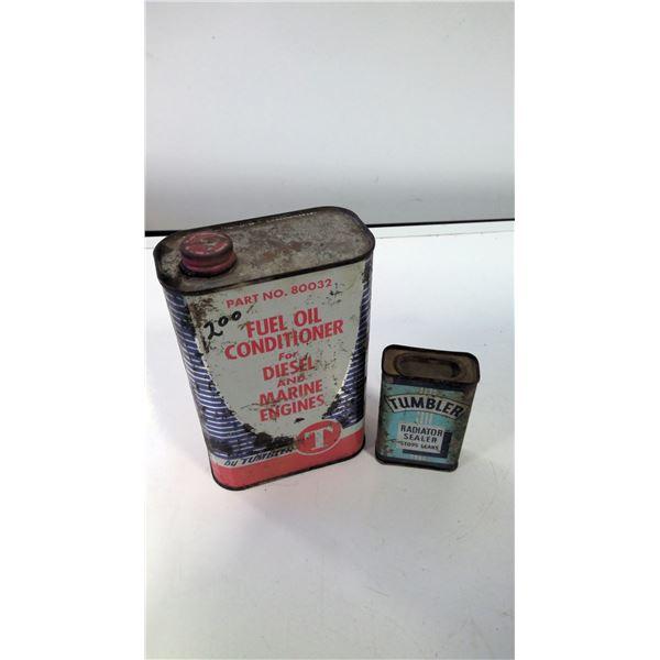 Lot of 2 Vintage Tumbler Tins