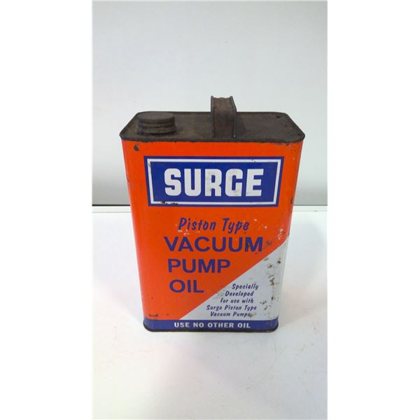 Surge Piston Type Vacuum Pump Oil Tin