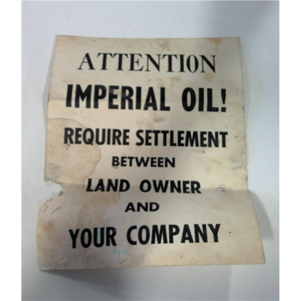 Posted Notice to Imperial Oil