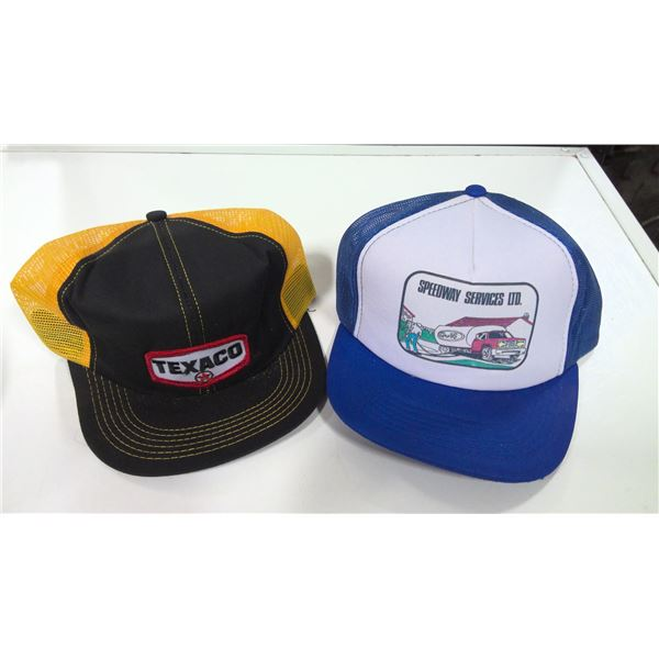 Lot of 2 Vintage Texaco and Gulf Hats