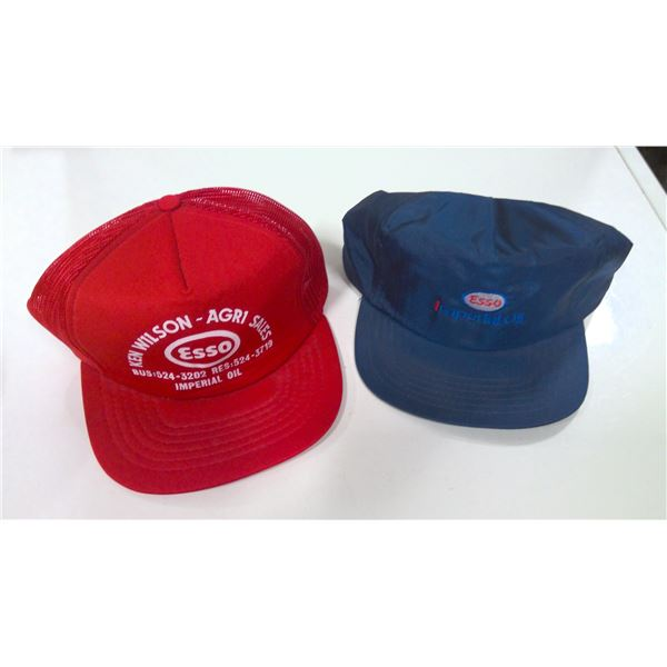 Lot of 2 Esso Imperial Oil Hats