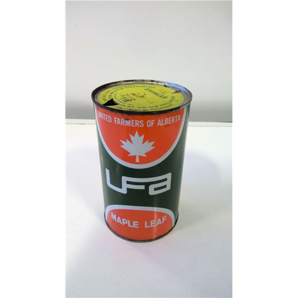 UFA Maple Leaf Motor Oil Tin