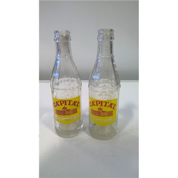Lot of 2 Capital Beverages (Edmonton) Soda Bottles