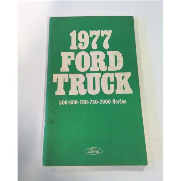1977 Ford Truck Owner's Manuall