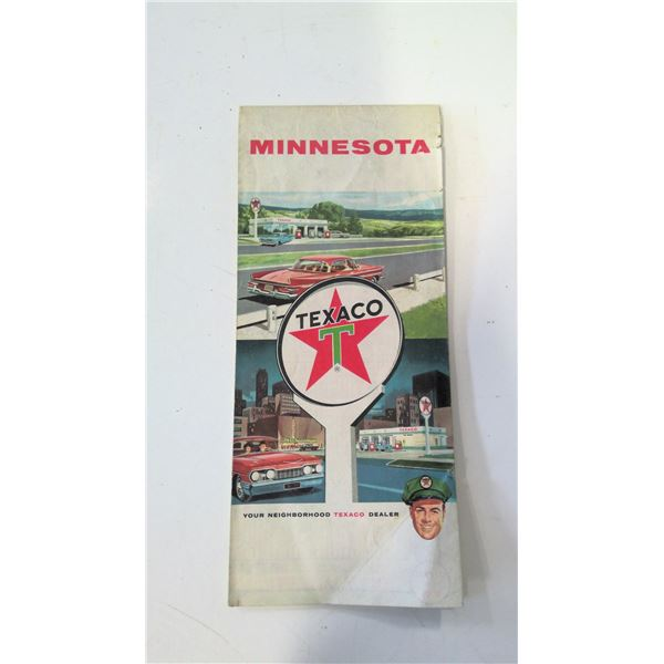 Texaco 1962 Road Map of Minnesota